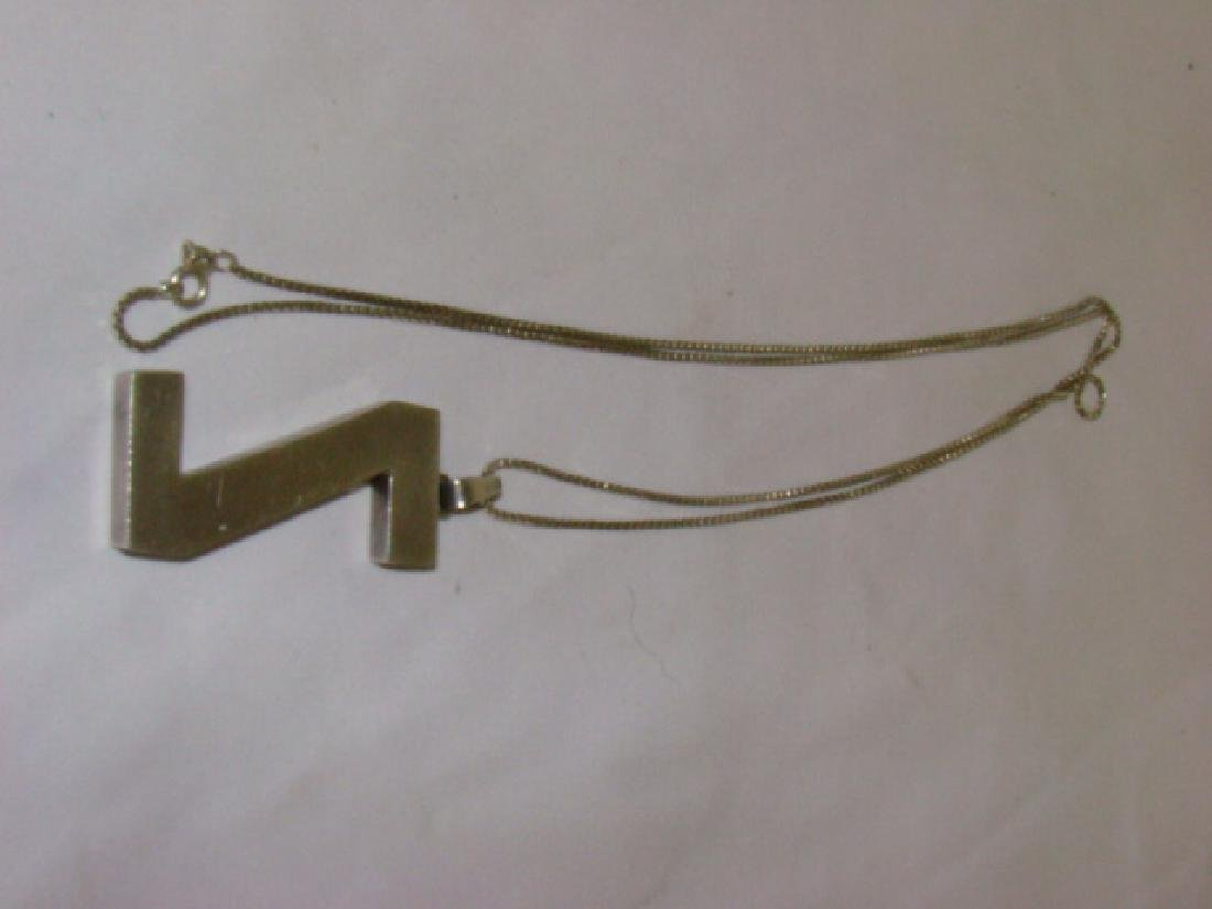 STERLING NECKLACE WITH Z PENDANT - 4
