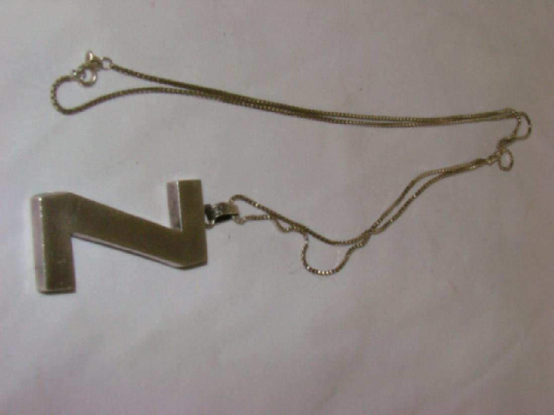 STERLING NECKLACE WITH Z PENDANT - 5