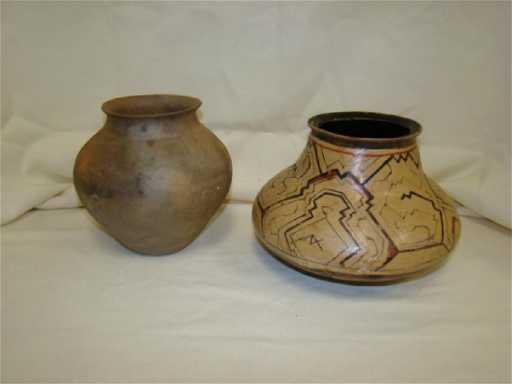 Primitive Native American Pottery Vases
