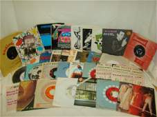 BOX OF VARIOUS VINTAGE 45 RPM RECORDS