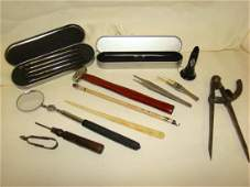 TRAY VARIOUS VINTAGE AND SPECIALTY TOOLS