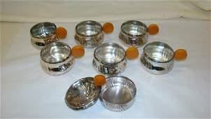 CHROME BAKELITE HANDLE CUPS