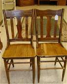 PR OF ANTIQUE AOK PLANK SIDE CHAIRS