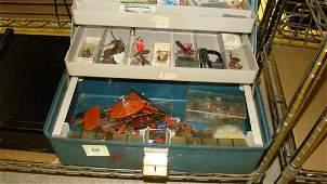 VHS AND FISHING TACKLE BOX
