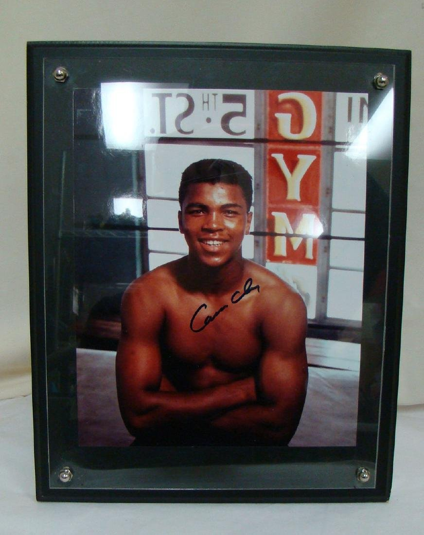SIGNED CASSIUS CLAY PHOTO AT 5TH STREET GYM