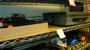 VARIOUS CLAMPS AND PLANO PHANTOM TACKLE BOX
