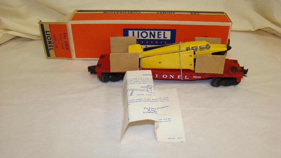 LIONEL NO. 6800 FLAT CAR W/ AIRPLANE- INSTRUCTIONS