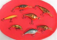 7 VARIOUS FISHING LURES