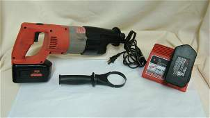 PREOWNED MILWAUKEE CORDLESS SAWZALL   2 BATTERIE