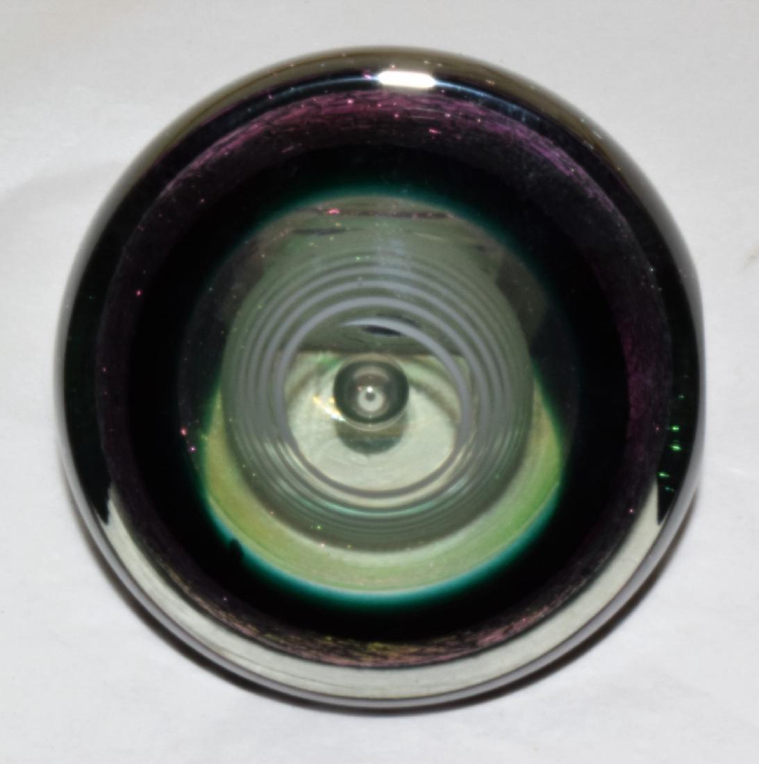 GLASS ART DECO PAPERWEIGHT - 3