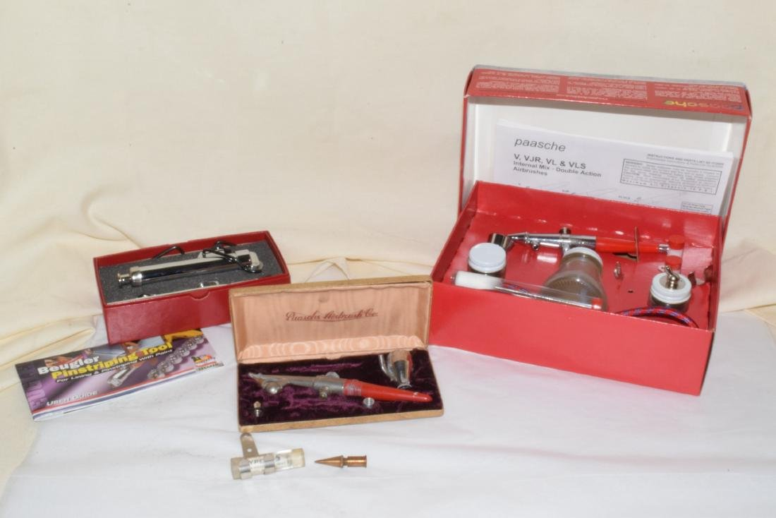 NEW AND OLD MODEL AIRBRUSH SETS