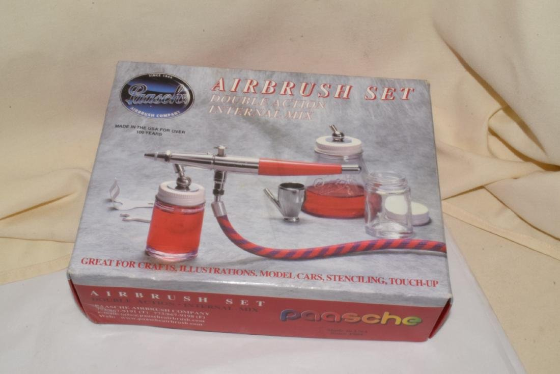 NEW AND OLD MODEL AIRBRUSH SETS - 6