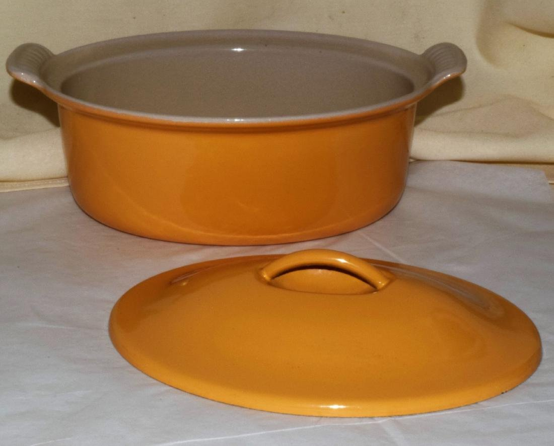 EMILE HENRY OVAL COVERED BAKING DISH & WATER PITCH - 2