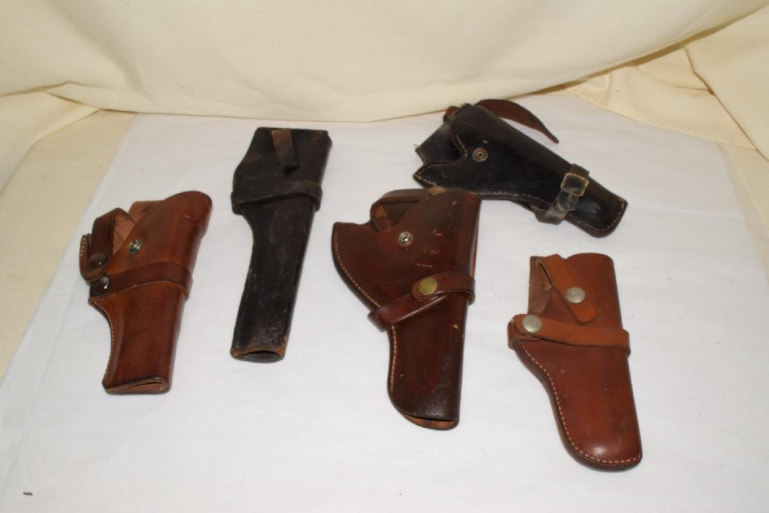 5 LEATHER SIDE ARM HOLSTERS
