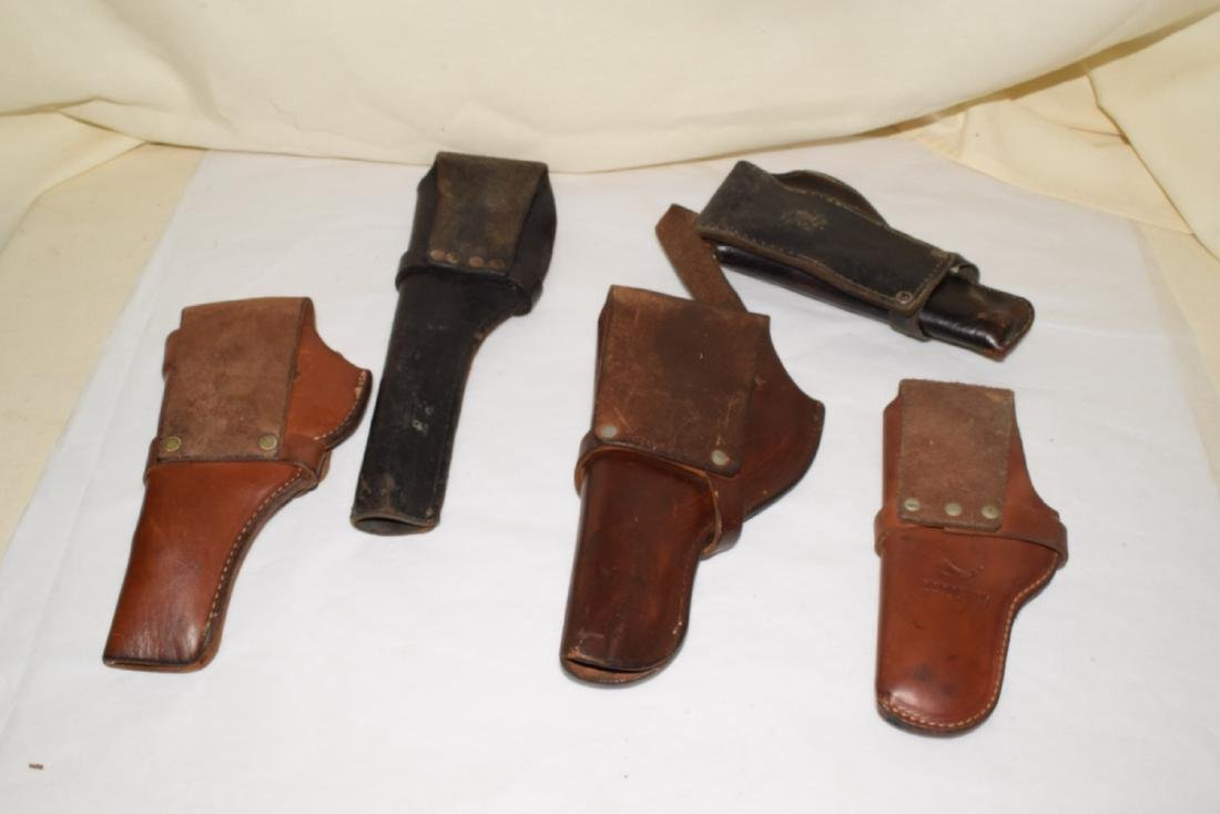 5 LEATHER SIDE ARM HOLSTERS - 2