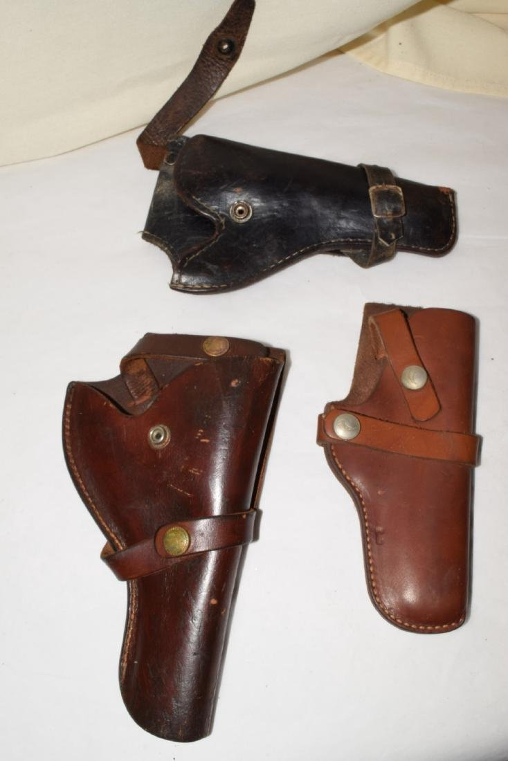 5 LEATHER SIDE ARM HOLSTERS - 4