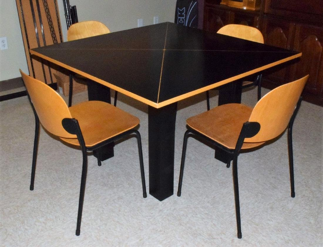 CONTEMPORARY TABLE & 4 CHAIRS