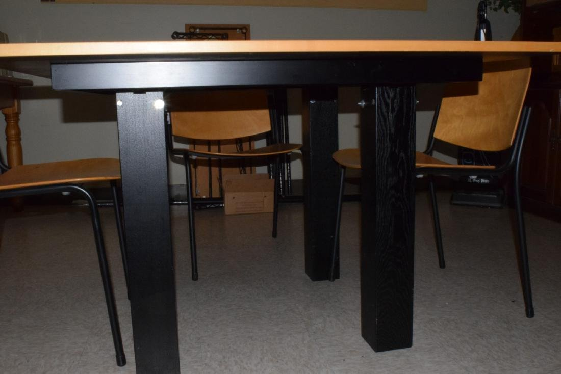 CONTEMPORARY TABLE & 4 CHAIRS - 2