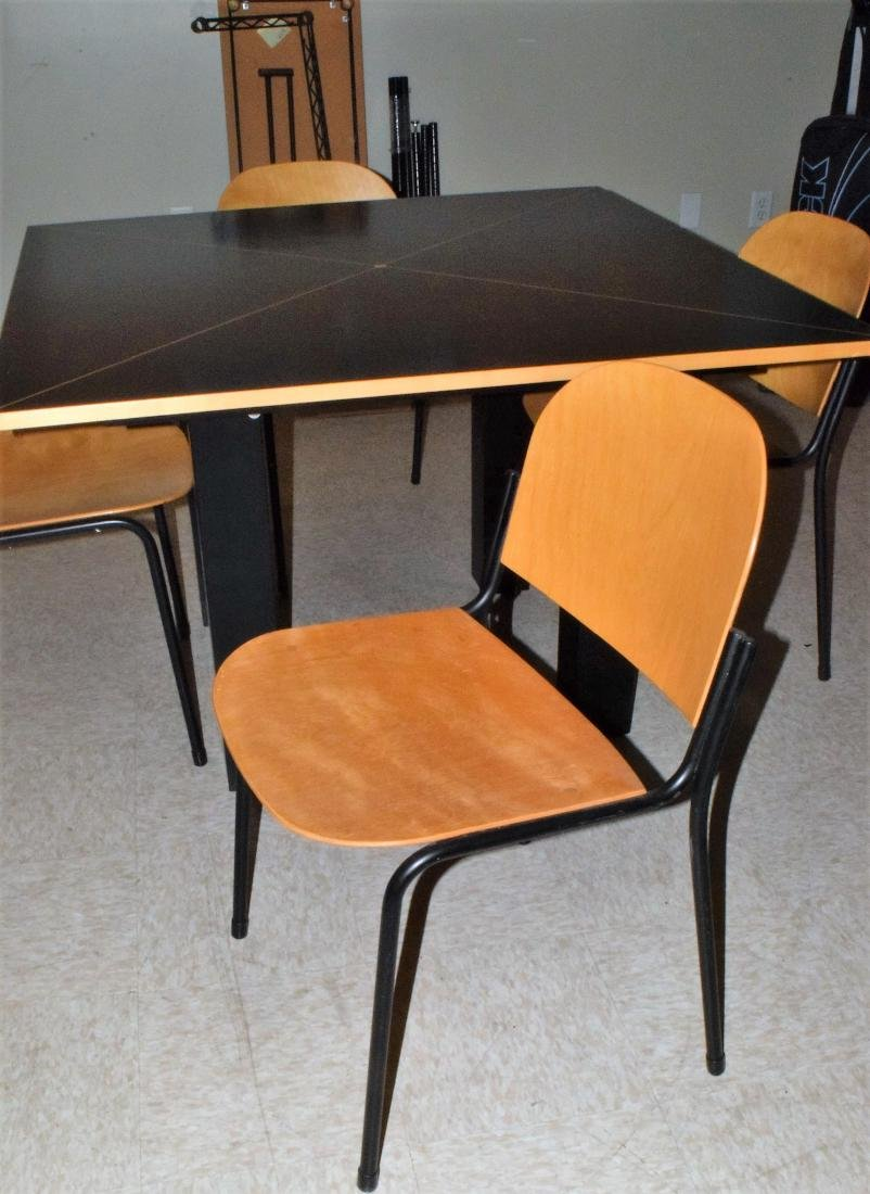 CONTEMPORARY TABLE & 4 CHAIRS - 4