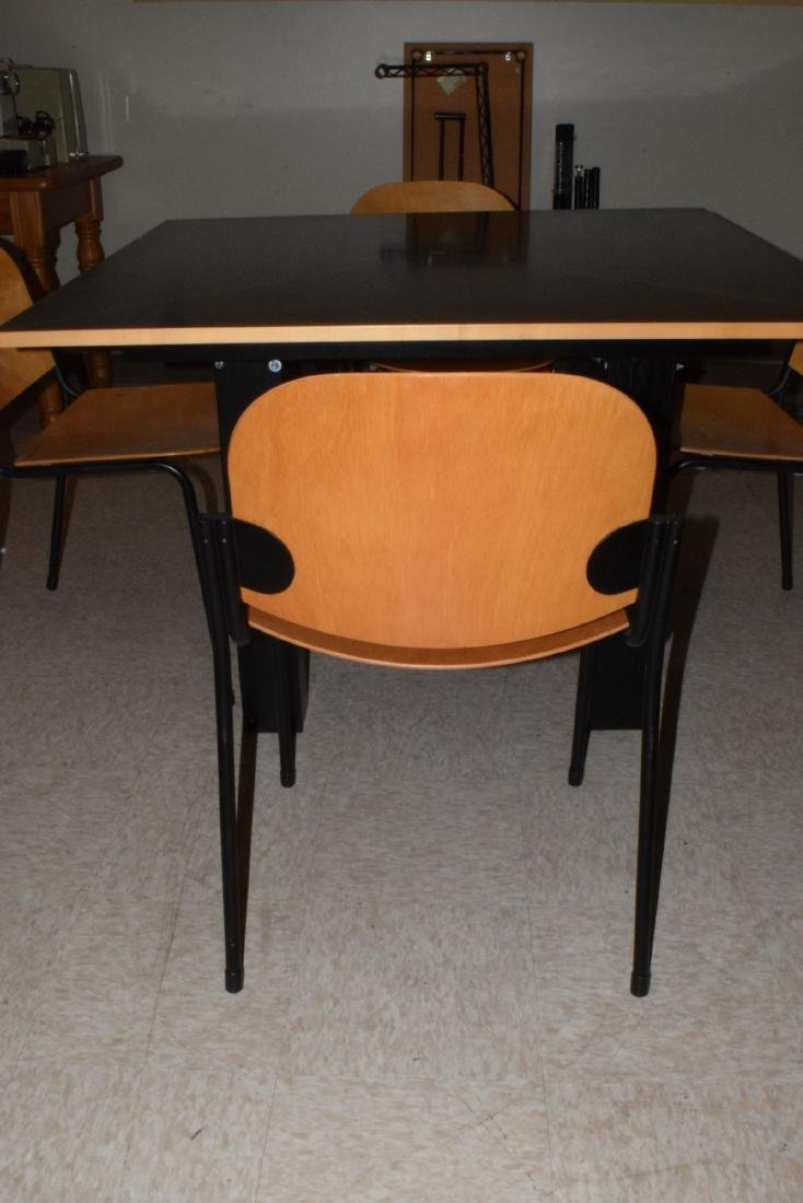 CONTEMPORARY TABLE & 4 CHAIRS - 5