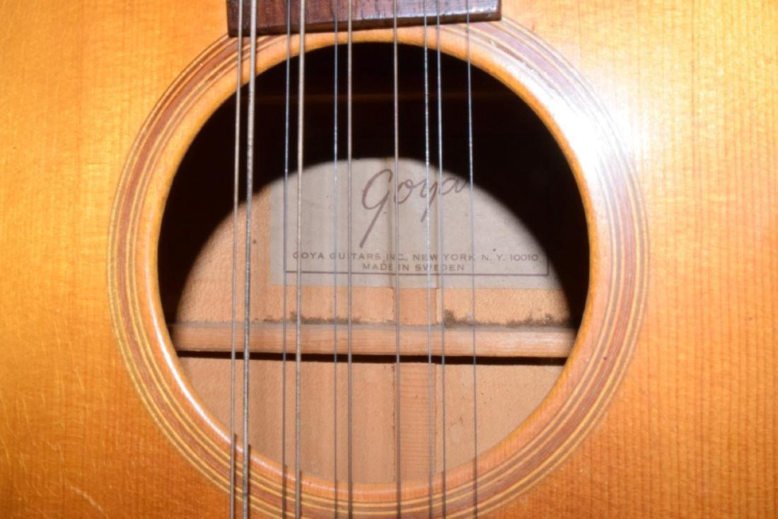 VINTAGE 12 STRING GOYA ACOUSTIC GUITAR - 4