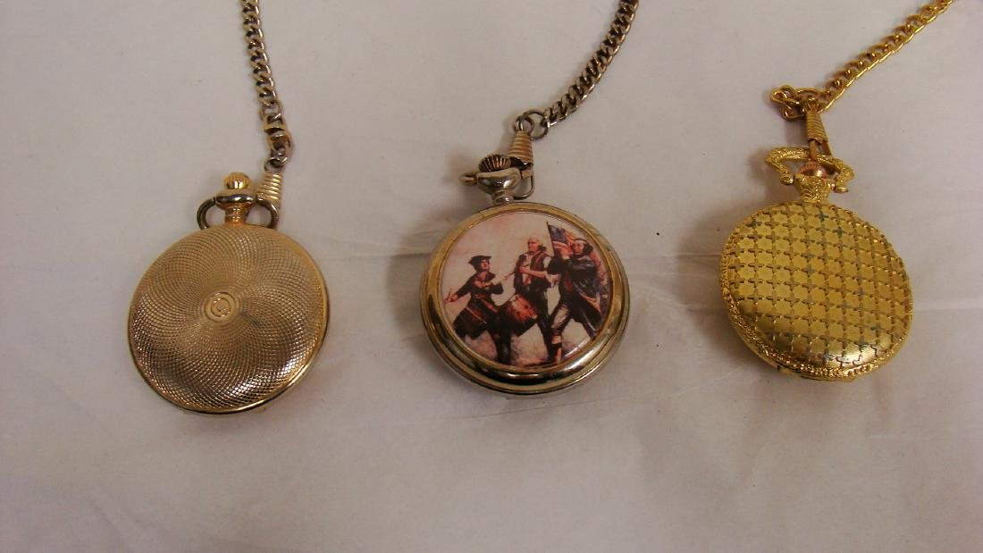 3 VINTAGE POCKET WATCHES - 3