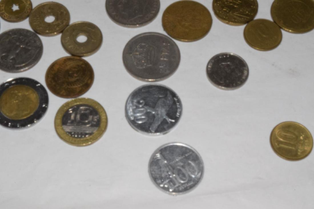 LOT OF VARIOUS FOREIGN COINS & TOKENS - 3