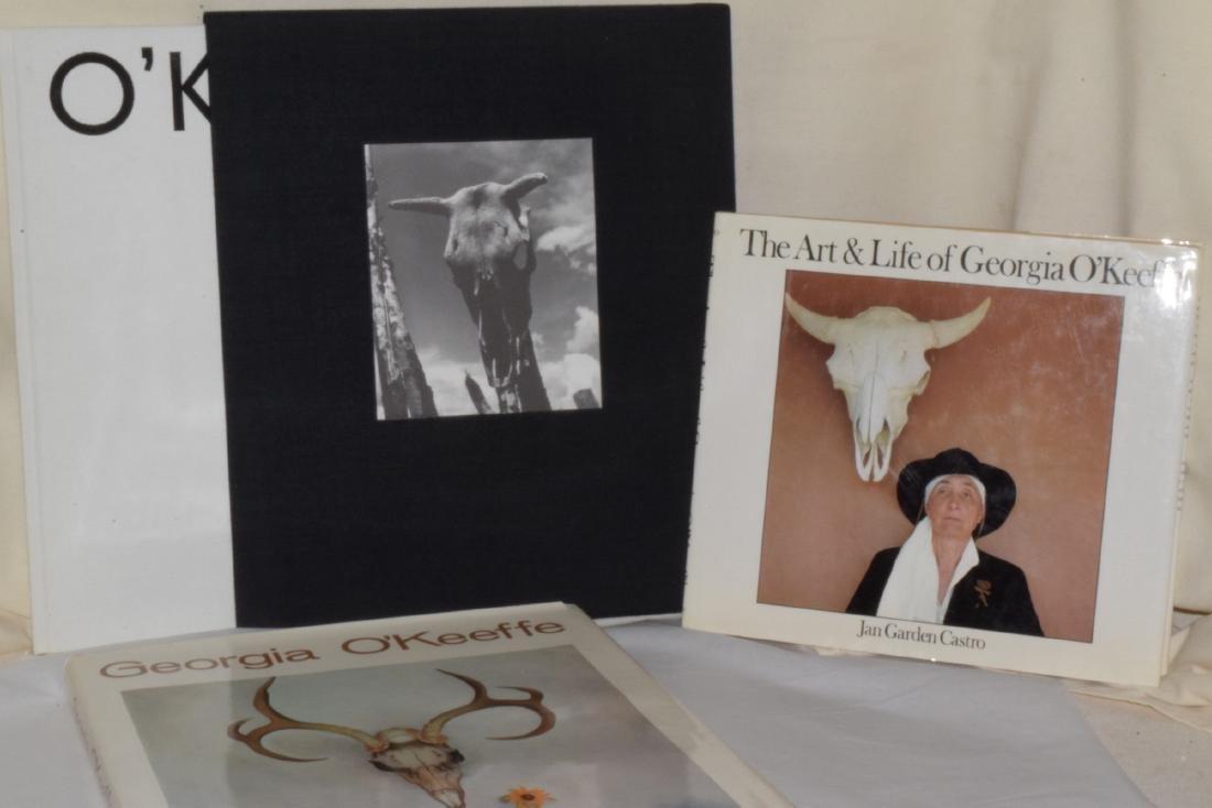 3 GEORGIA O'KEEFFE COFFEE TABLE BOOKS