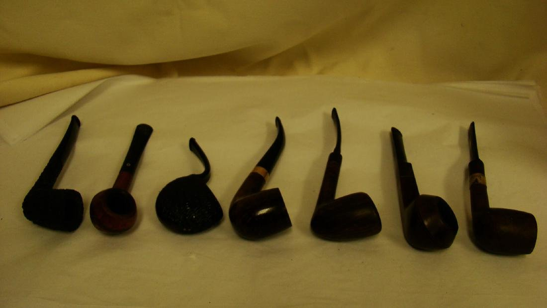 7 VINTAGE SMOKING PIPES