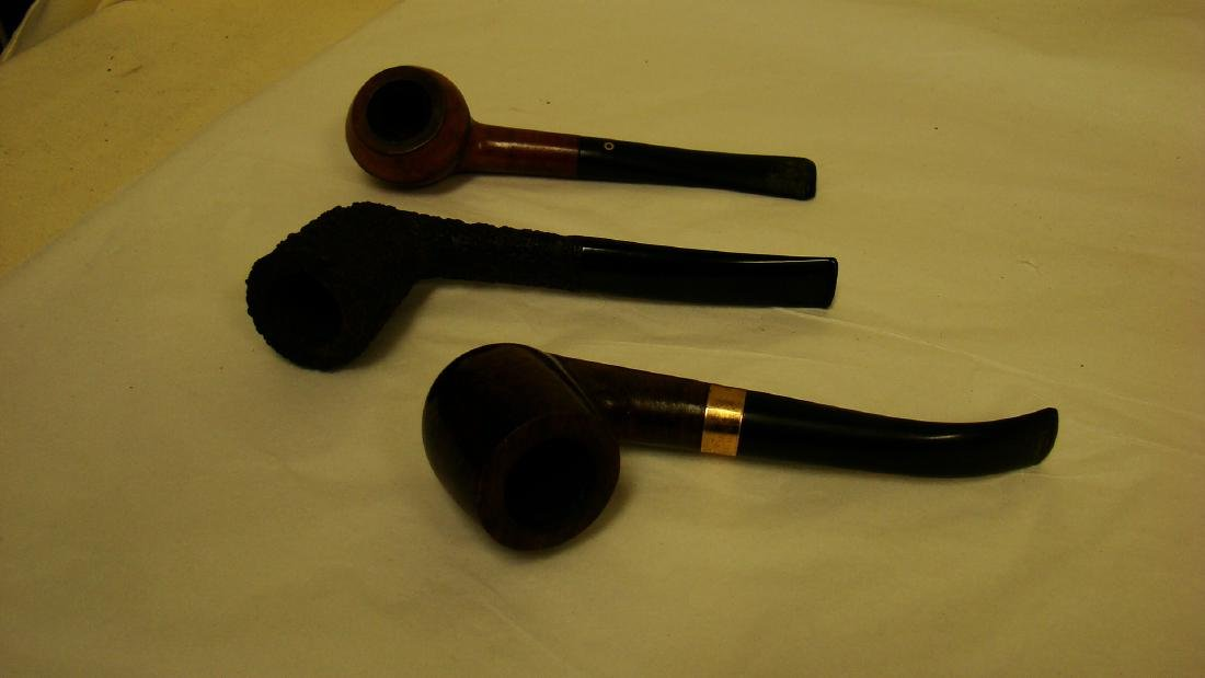 7 VINTAGE SMOKING PIPES - 2