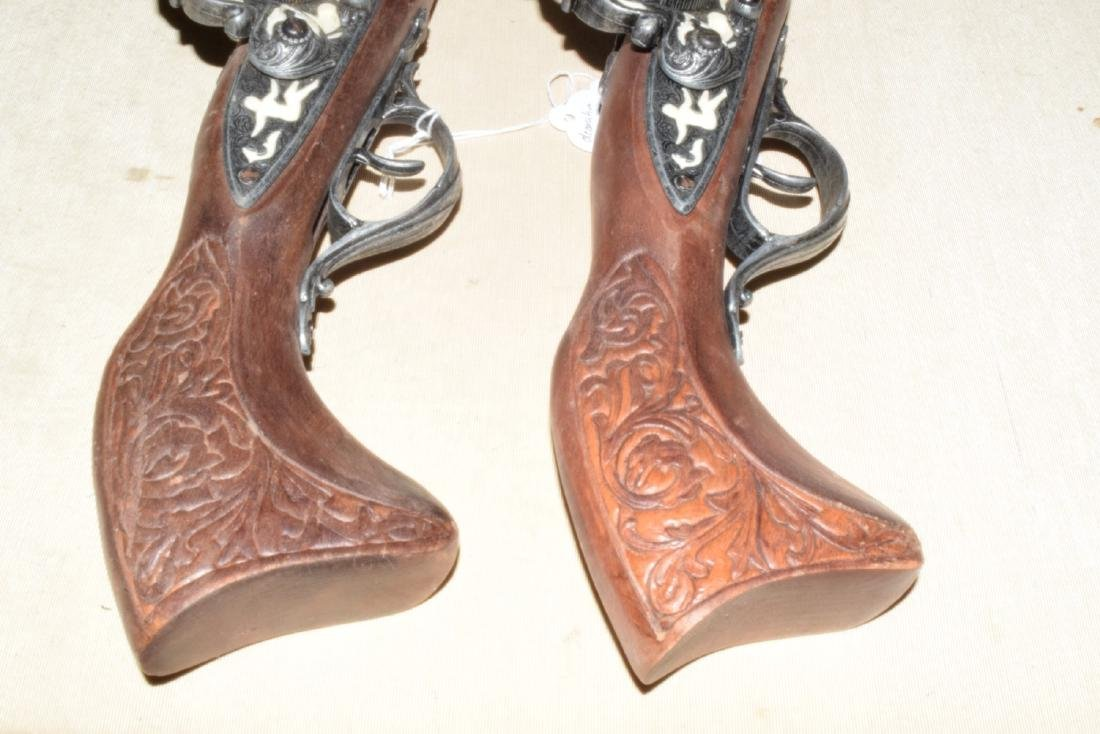 MATCHING DECORATIVE DUELING FLINTLOCKS - 2