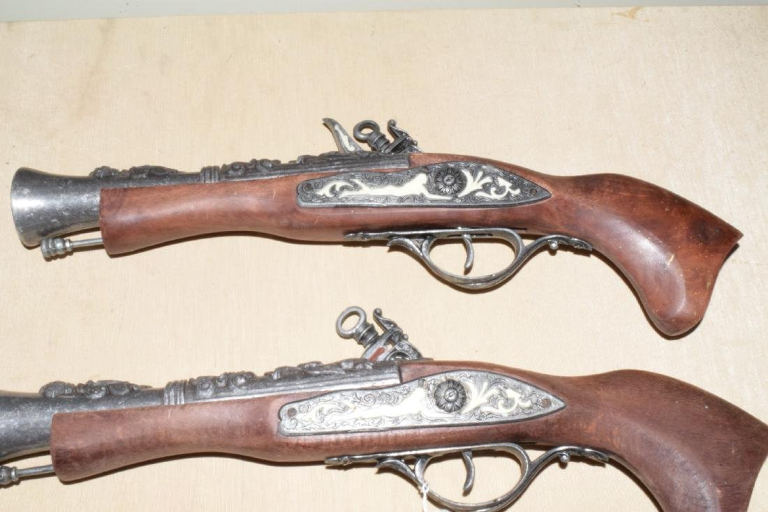 MATCHING DECORATIVE DUELING FLINTLOCKS - 6