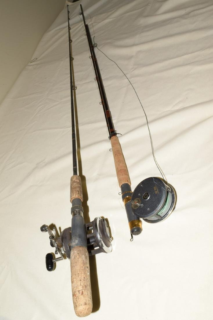 2 FISHING POLES WITH REELS