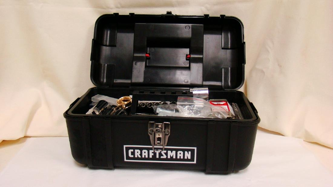CRAFTSMAN TOOL BOX WITH CONTENTS - 4