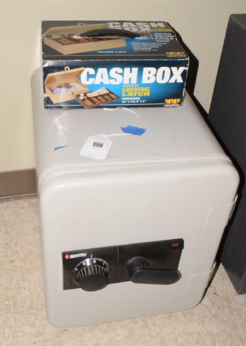 SENTRY FIRE PROOF SAFE & CASH BOX