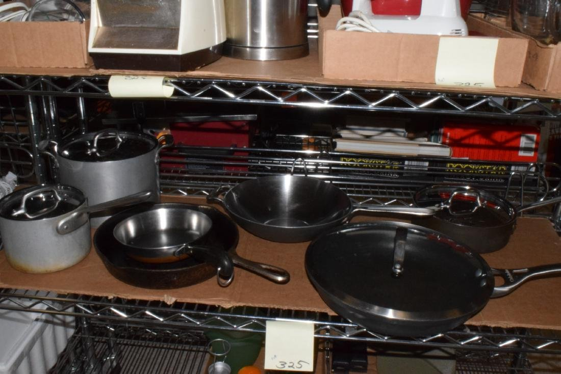 WAGNER CAST IRON SKILLET  & CALPHALON COOKING WARE