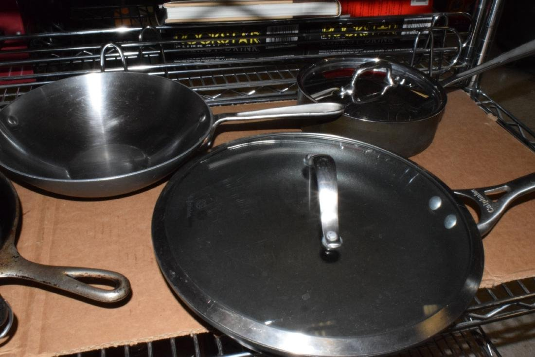 WAGNER CAST IRON SKILLET  & CALPHALON COOKING WARE - 3