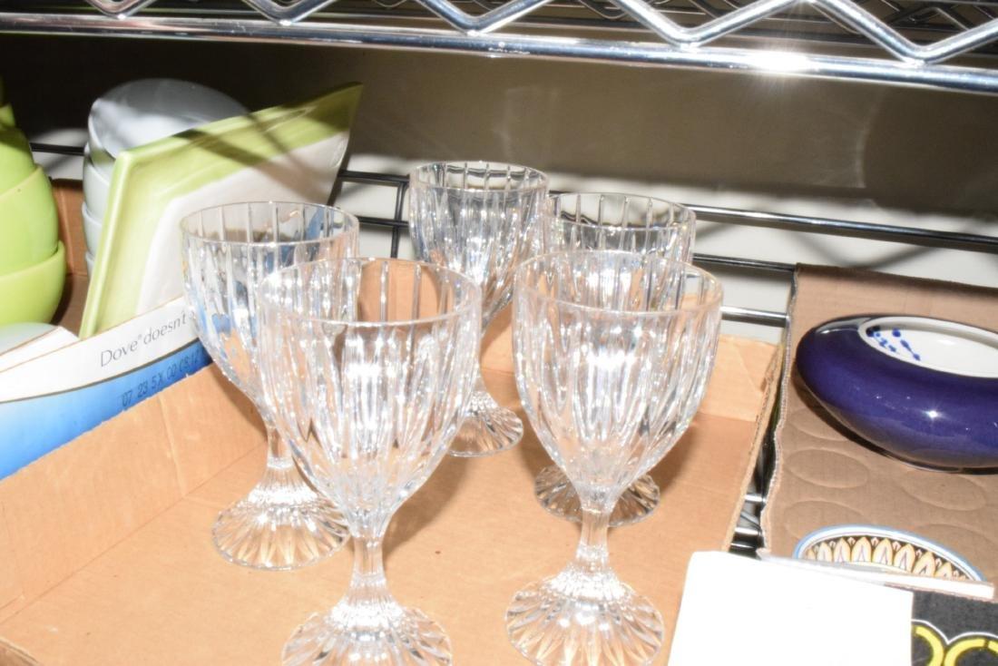 CRYSTAL WINE GLASSES & MORE - 4