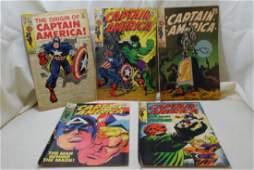 1969 CAPTAIN AMERICA COMIC BOOKS