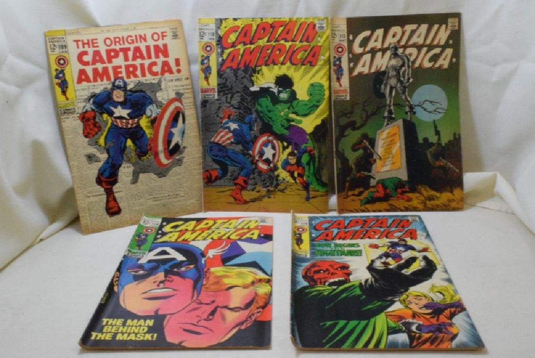 1969 CAPTAIN AMERICA COMIC BOOKS