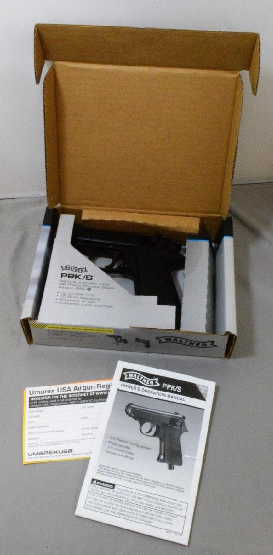 LIKE NEW - WALTHER PPK/S SEMI AUTOMATIC CO2 BB PIS