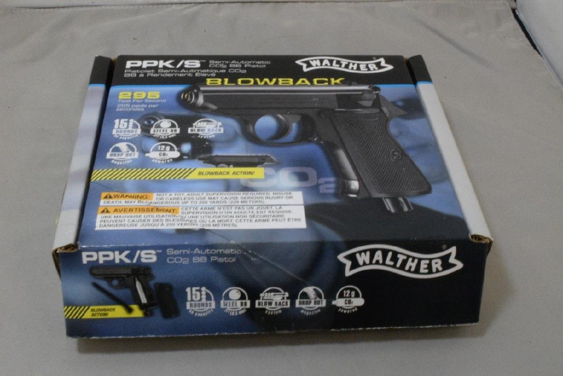LIKE NEW - WALTHER PPK/S SEMI AUTOMATIC CO2 BB PIS - 4