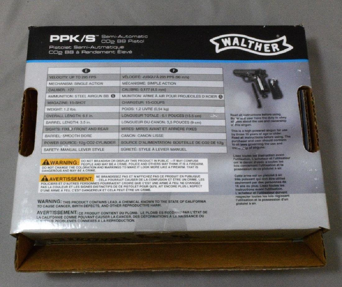 LIKE NEW - WALTHER PPK/S SEMI AUTOMATIC CO2 BB PIS - 5