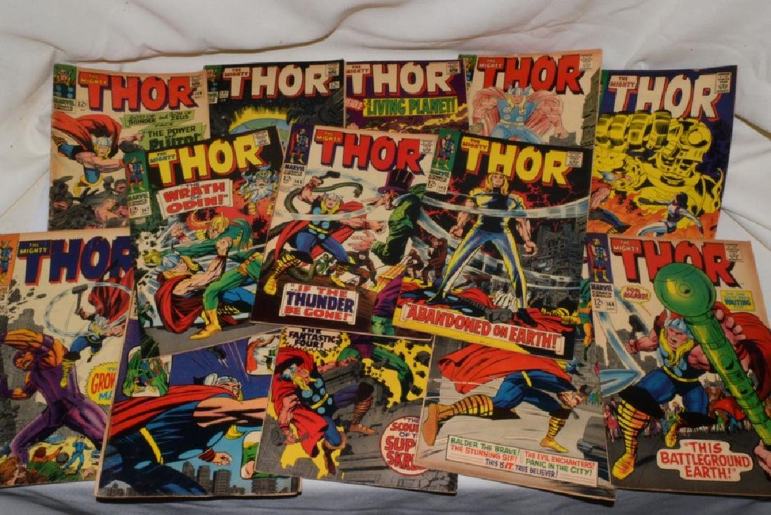 1966-67 THE MIGHTY THOR COMIC BOOKS