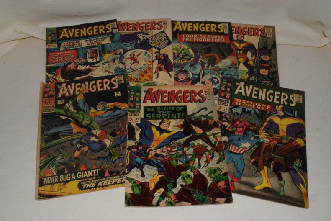 MARVEL COMICS THE AVENGERS; 7 ISSUES