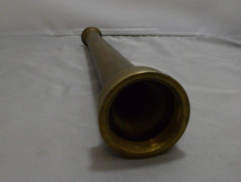"10"" BRASS FIRE HOSE NOZZLE - NO MARKS - 2"
