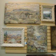 ORIGINAL PAINTINGS BY C. WAALE - 3 OIL; 1 WATER CO
