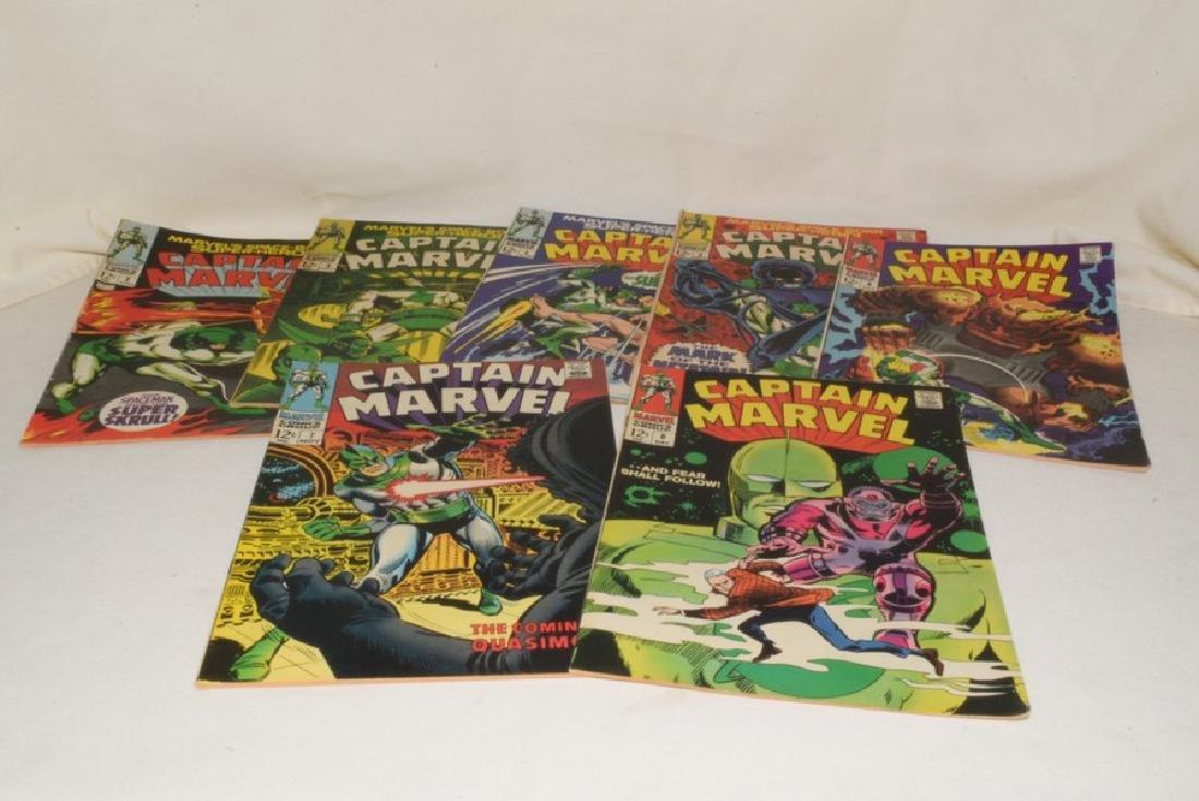 1968 ISSUES 2-8 MARVEL COMICS CAPTAIN MARVEL