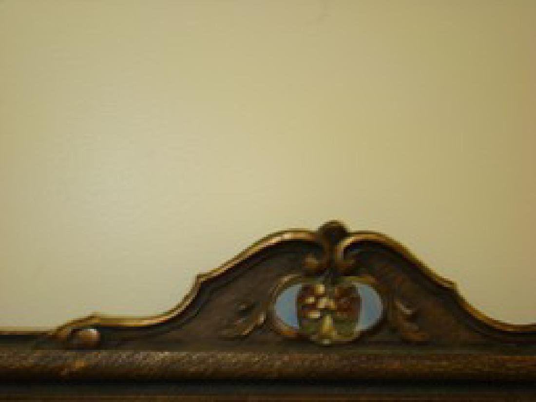 ANTIQUE FRAMED MIRROR - 2