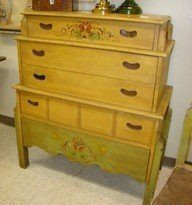 TOLL PAINTED 5 PIECE ANTIQUE BEDROOM SET - 2